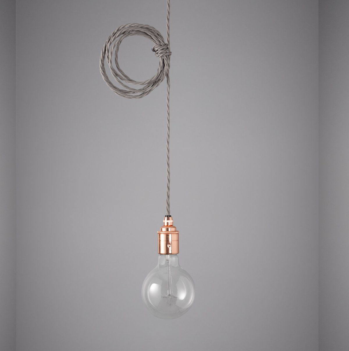 Copper Bare Bulb Pendant Light Grey Cable Grace And Glory