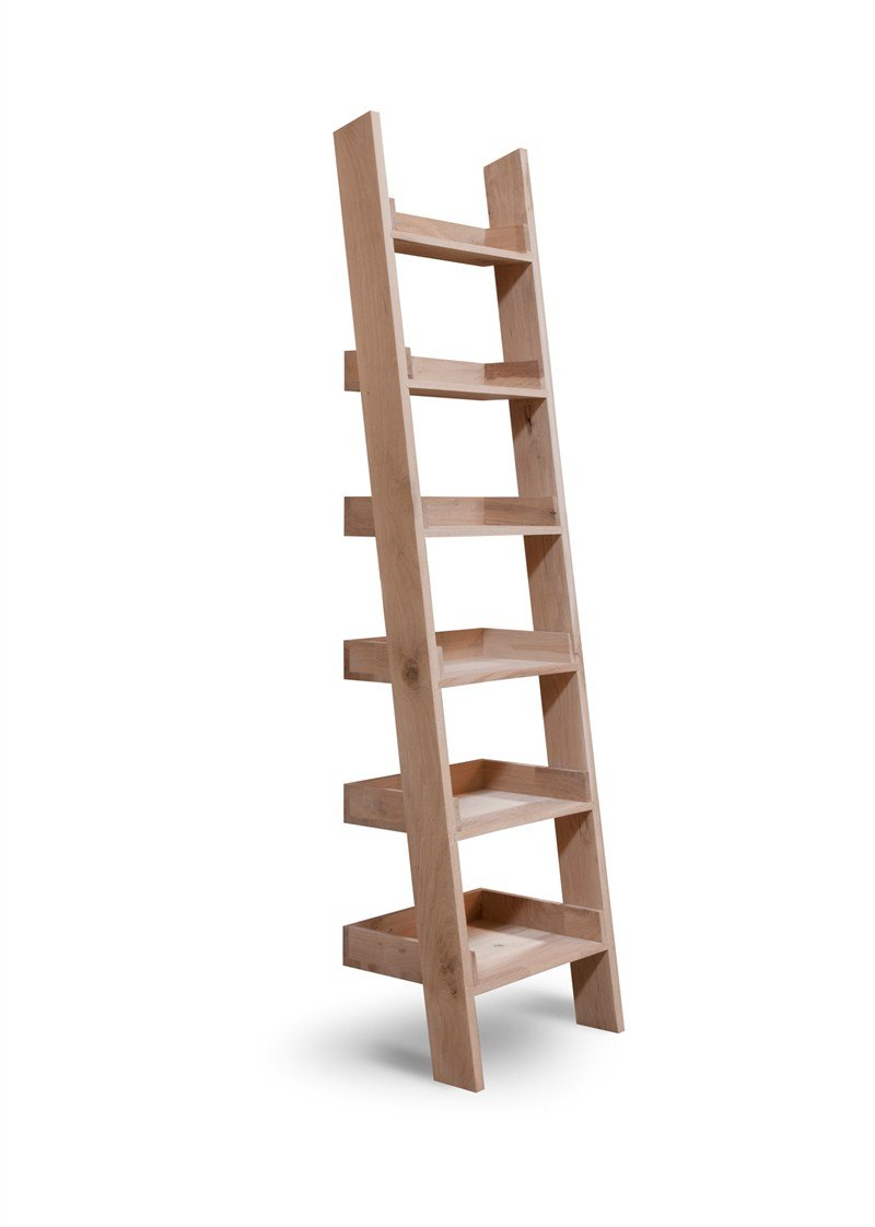 Oak Ladder Shelf 1