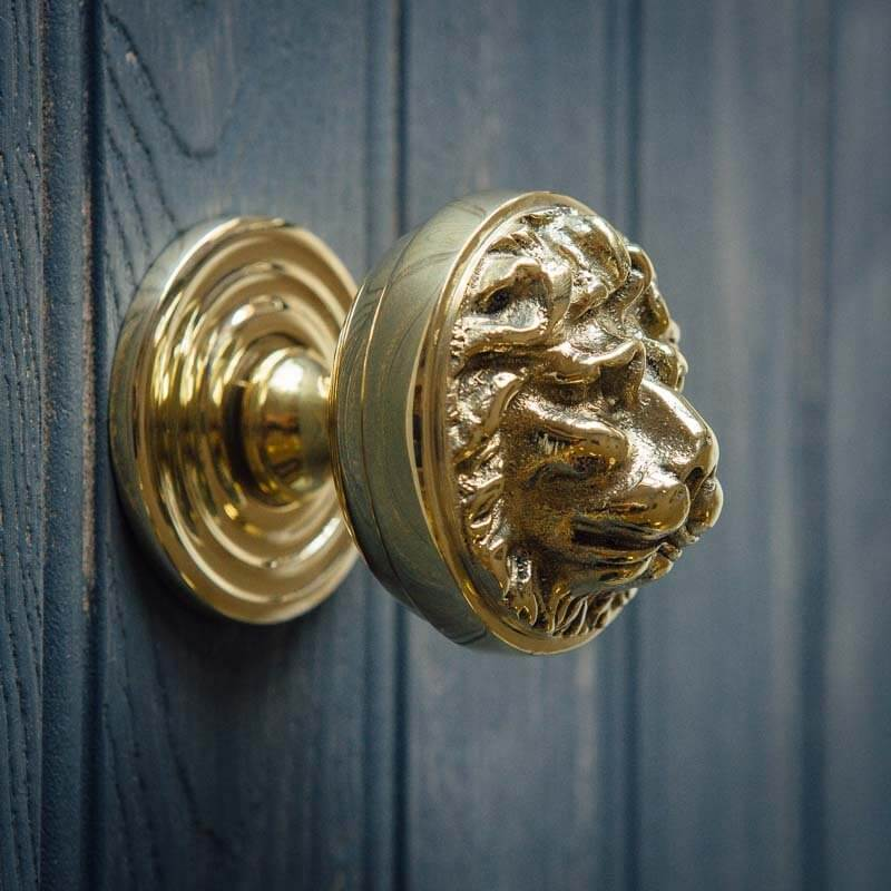 Lions Head Door Pull Polished Brass Grace Amp Glory