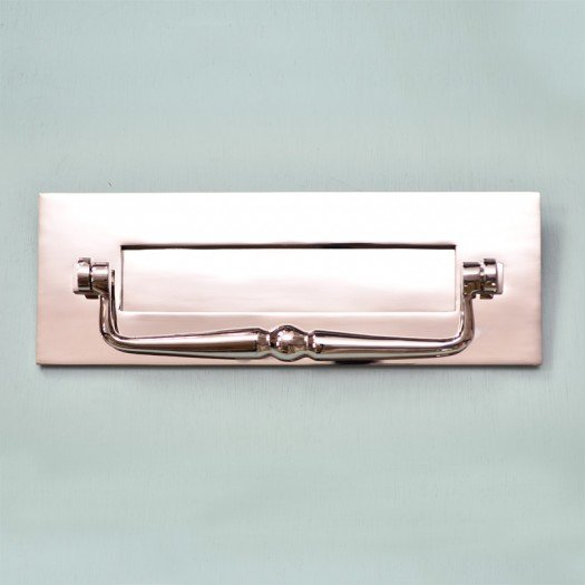 Traditional Letterplate With Clapper - Nickel
