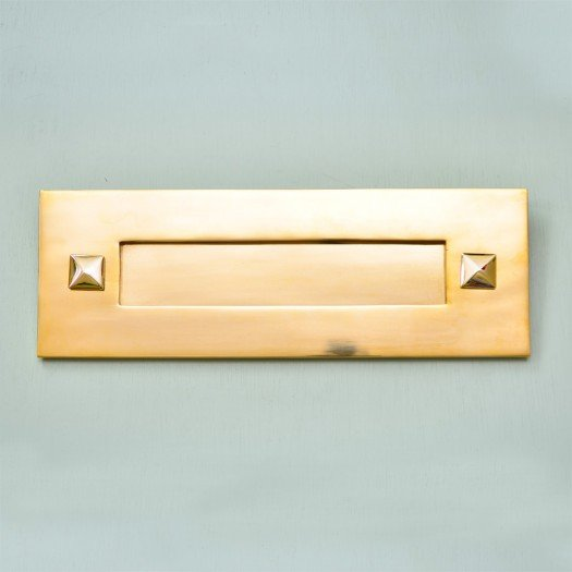 Traditional Letterplate Without Clapper - Brass