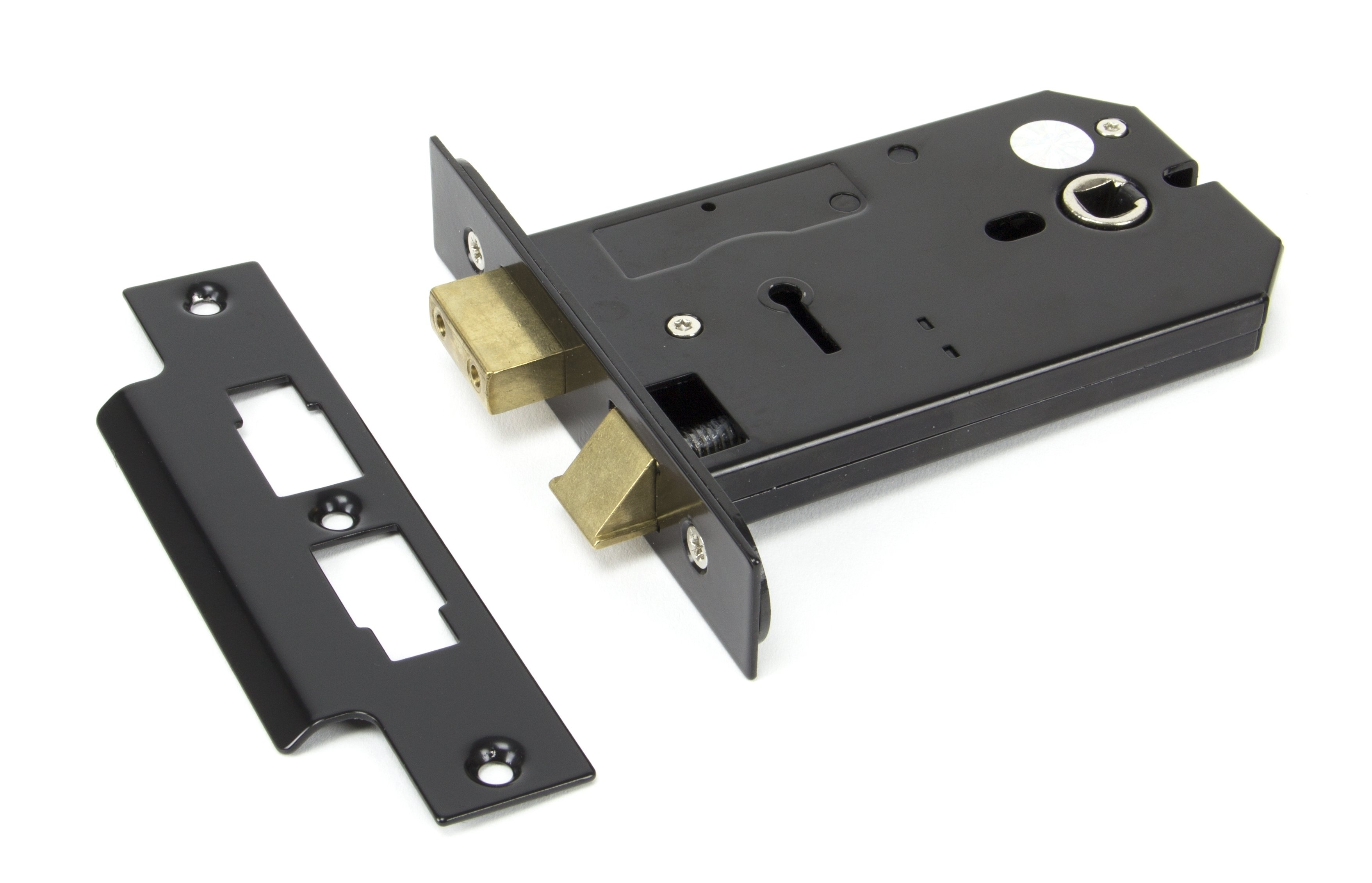 Black 5'' Horizontal 3 Lever Lock