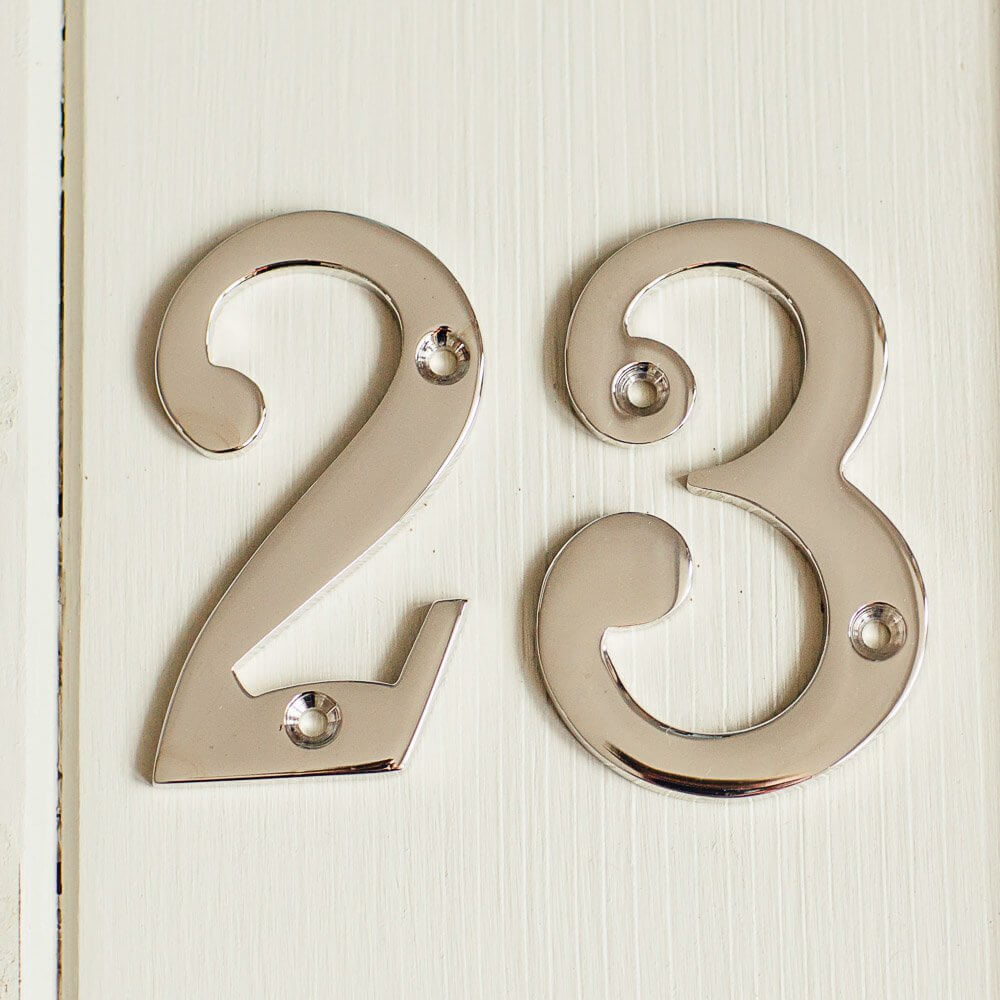 House Number '3' - Nickel