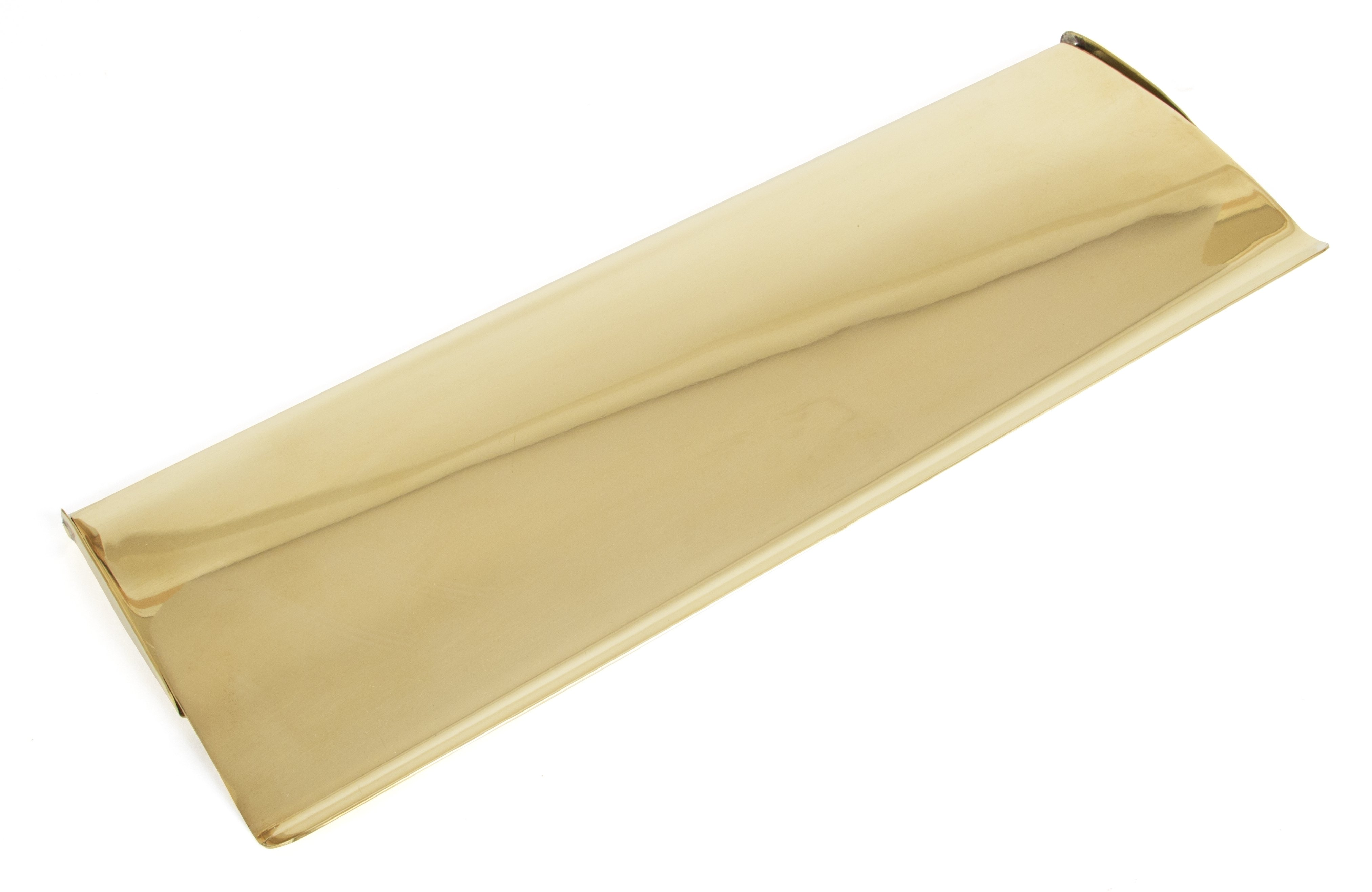 Polished Brass Letterplate Cover - Large image
