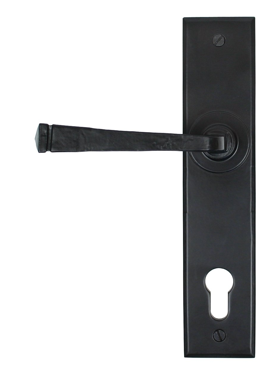 Black Avon Lever Espag. Lock Set