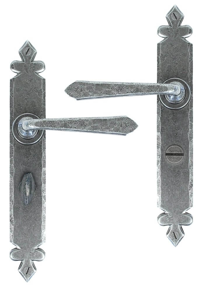 Pewter Cromwell Sprung Lever Bathroom Set