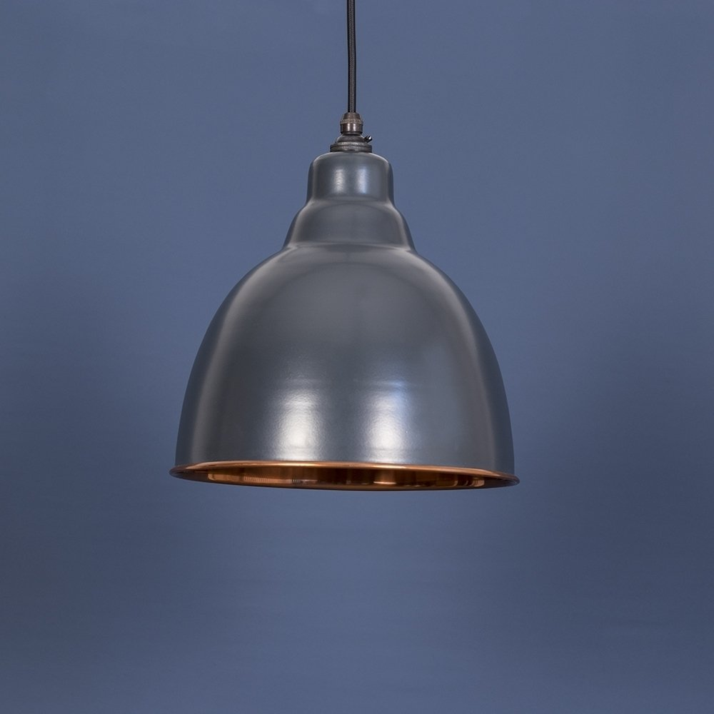 The Brindley Pendant - Charcoal Grey/Copper