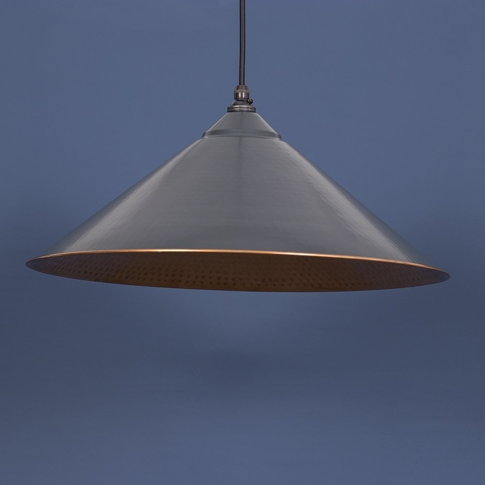The Yardley Pendant - Charcoal Grey/Copper