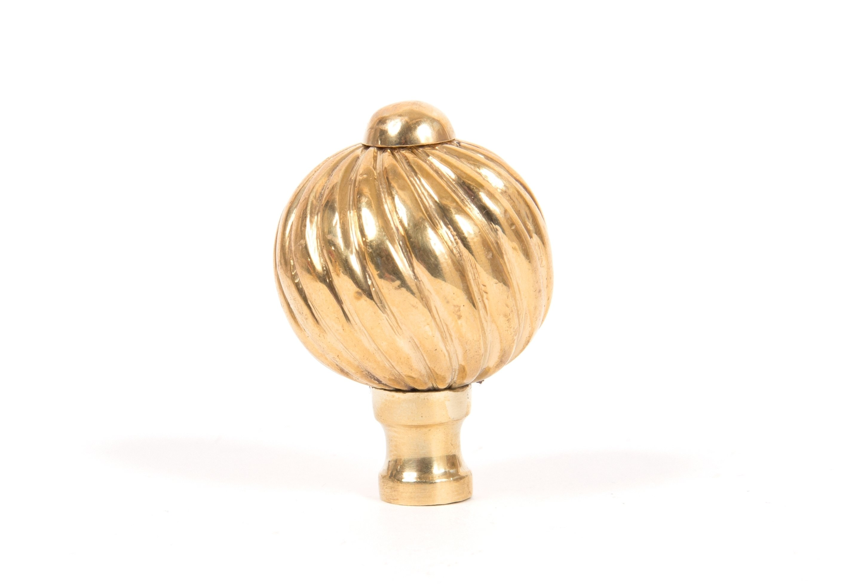 Polished Brass Spiral Cabinet Knob - Small