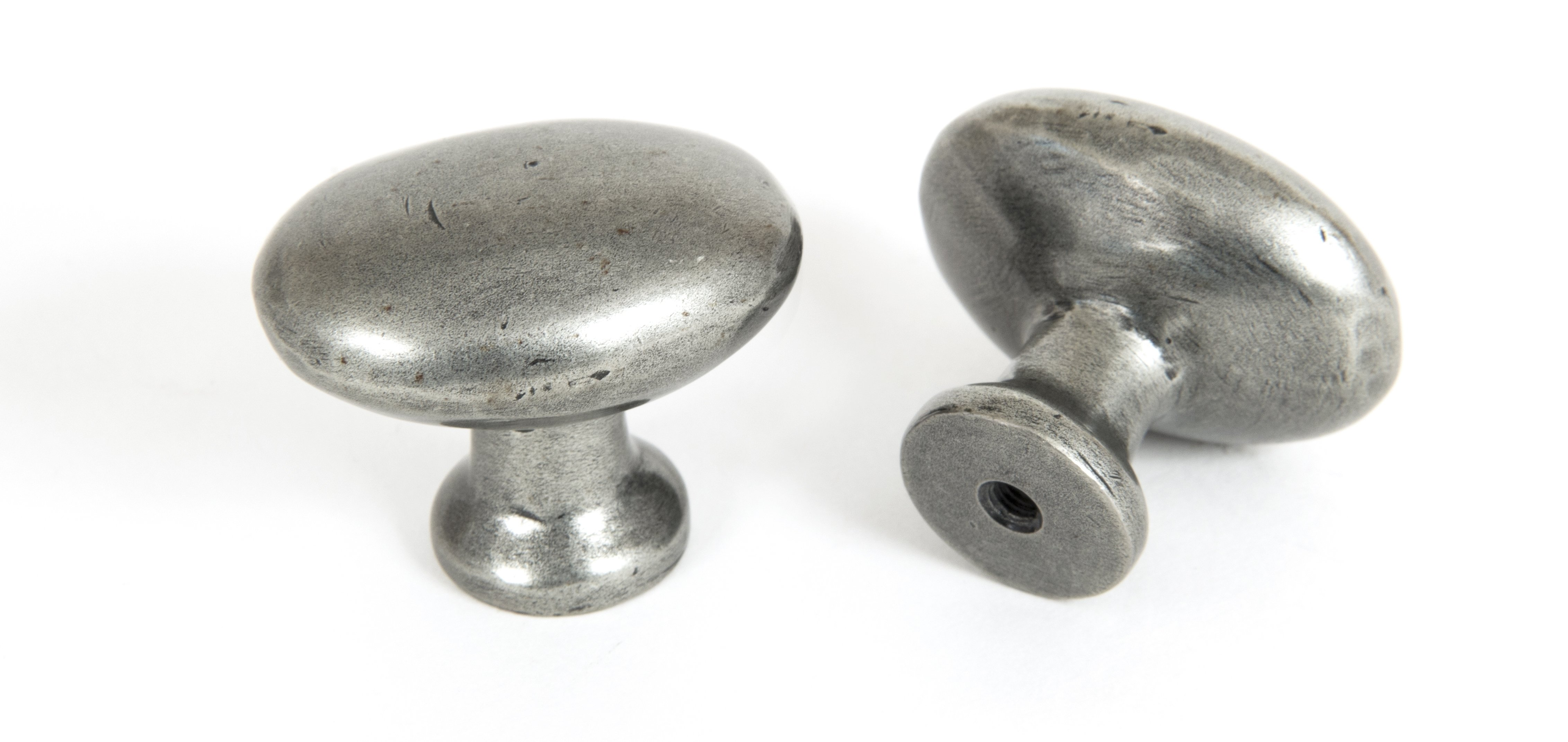 Oval Cabinet Knob - Pewter