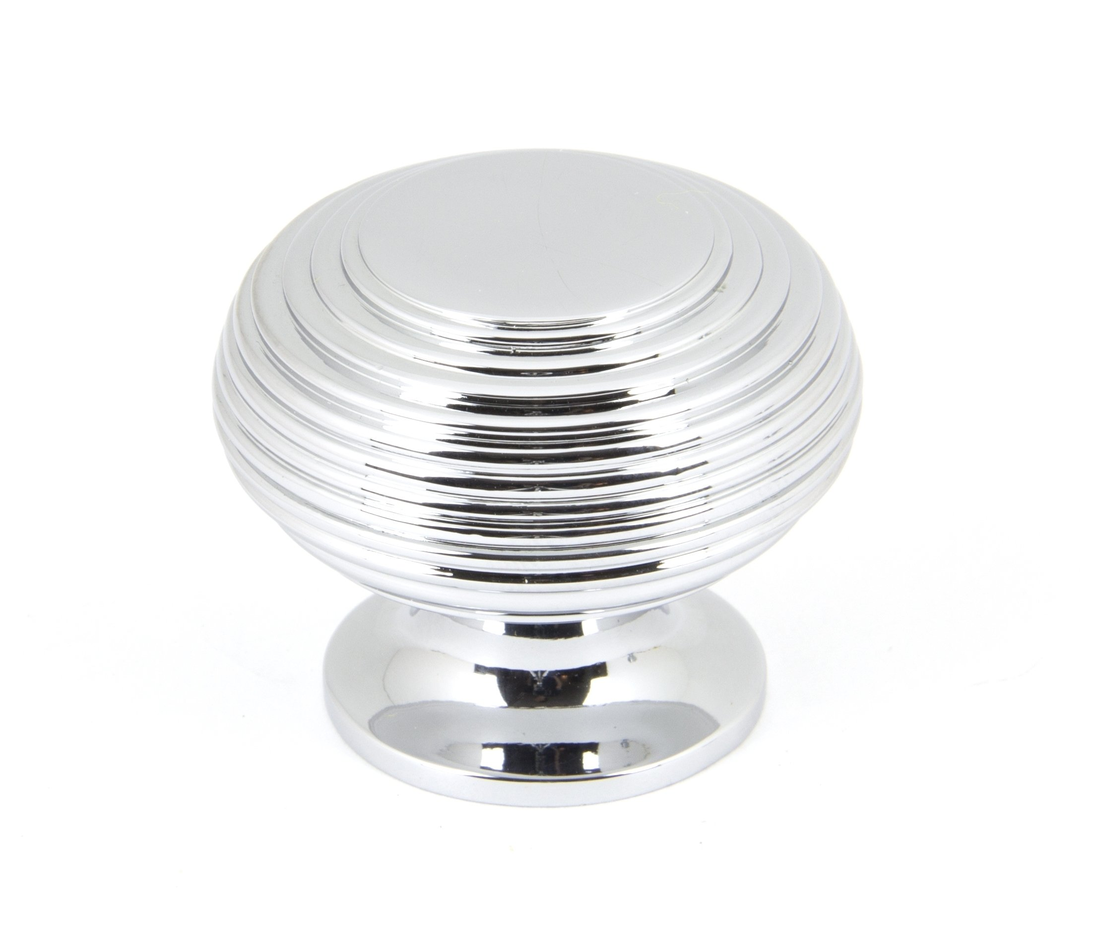 Polished Chrome Beehive Cabinet Knob - Large