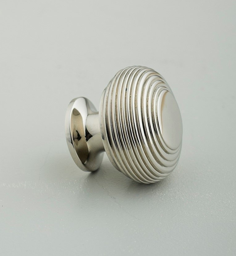 Beehive Large Cabinet Knob - Nickel