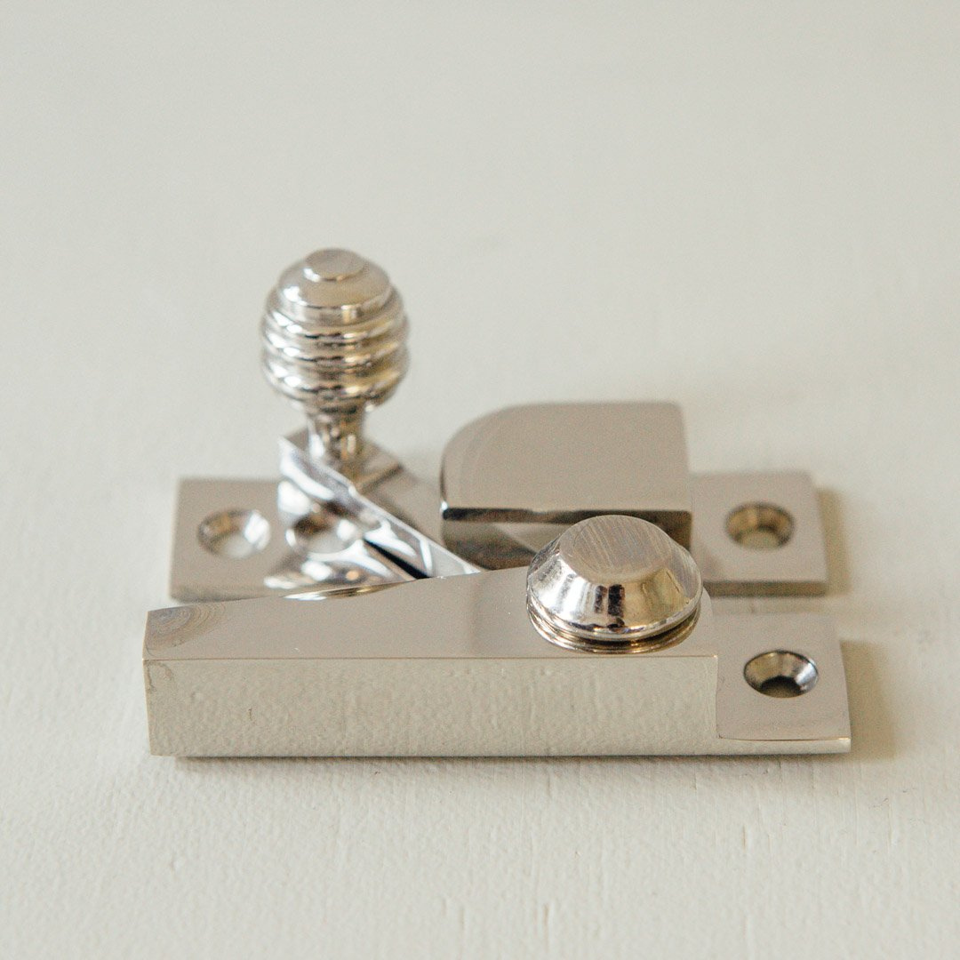 Beehive Sash Window Fastener - Polished Nickel