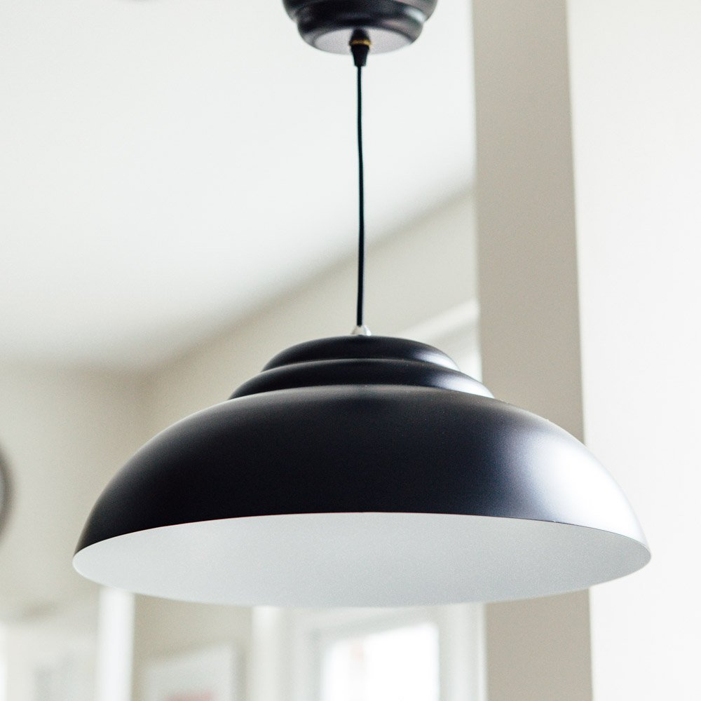 Retro Pendant Light - Black