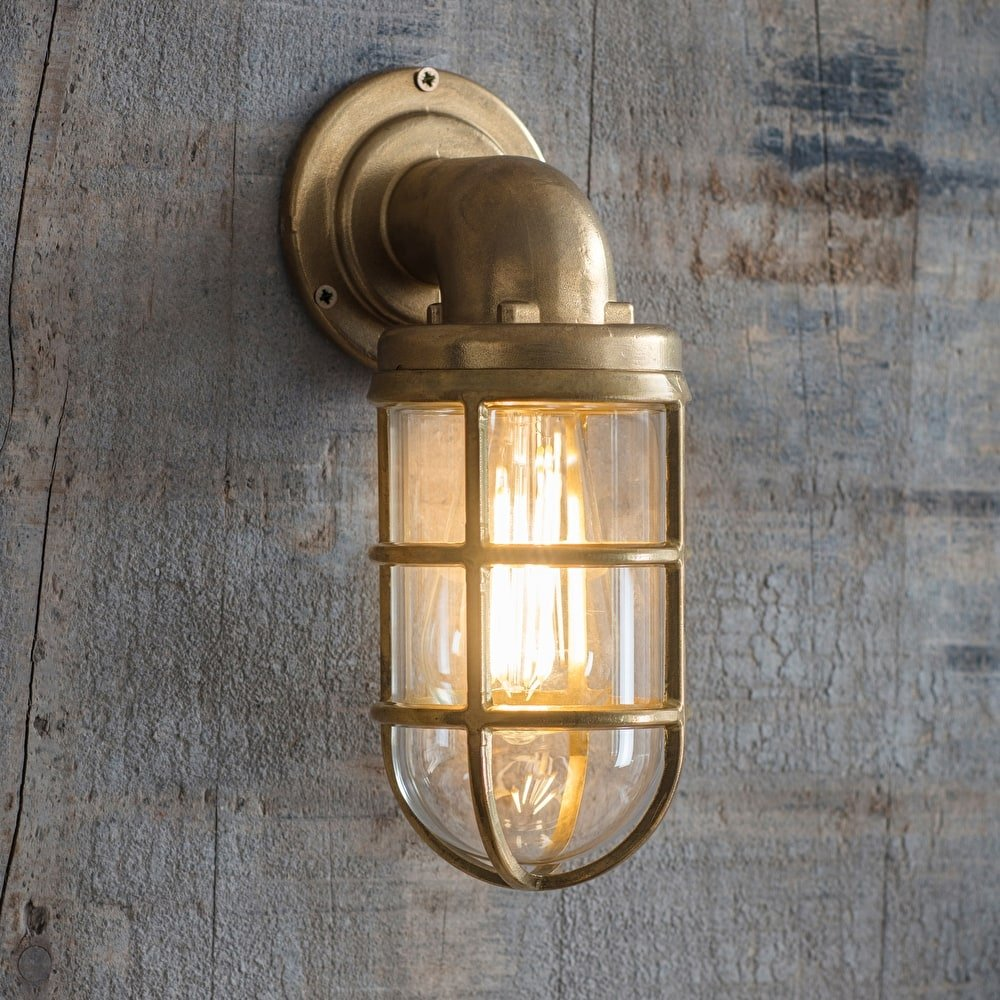 Brass Down Light