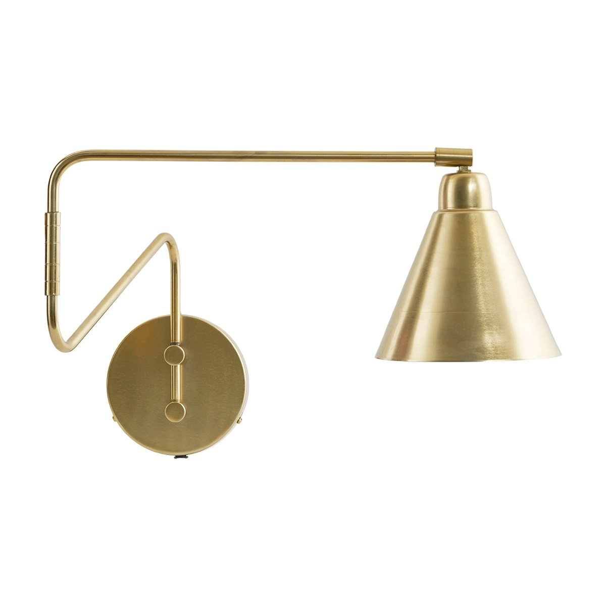 Brass Swivel Wall Light