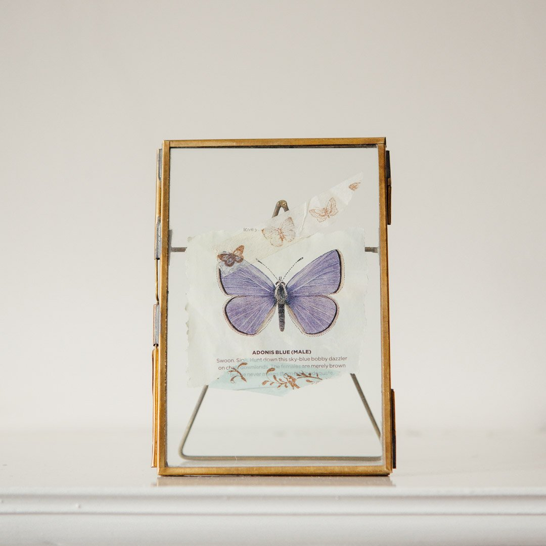 Brass Glass Display Frame with stand - Grace & Glory
