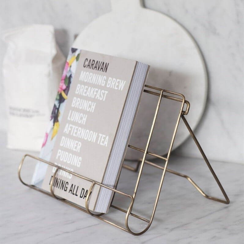 Cook Book Holder - Antique Brass Finish