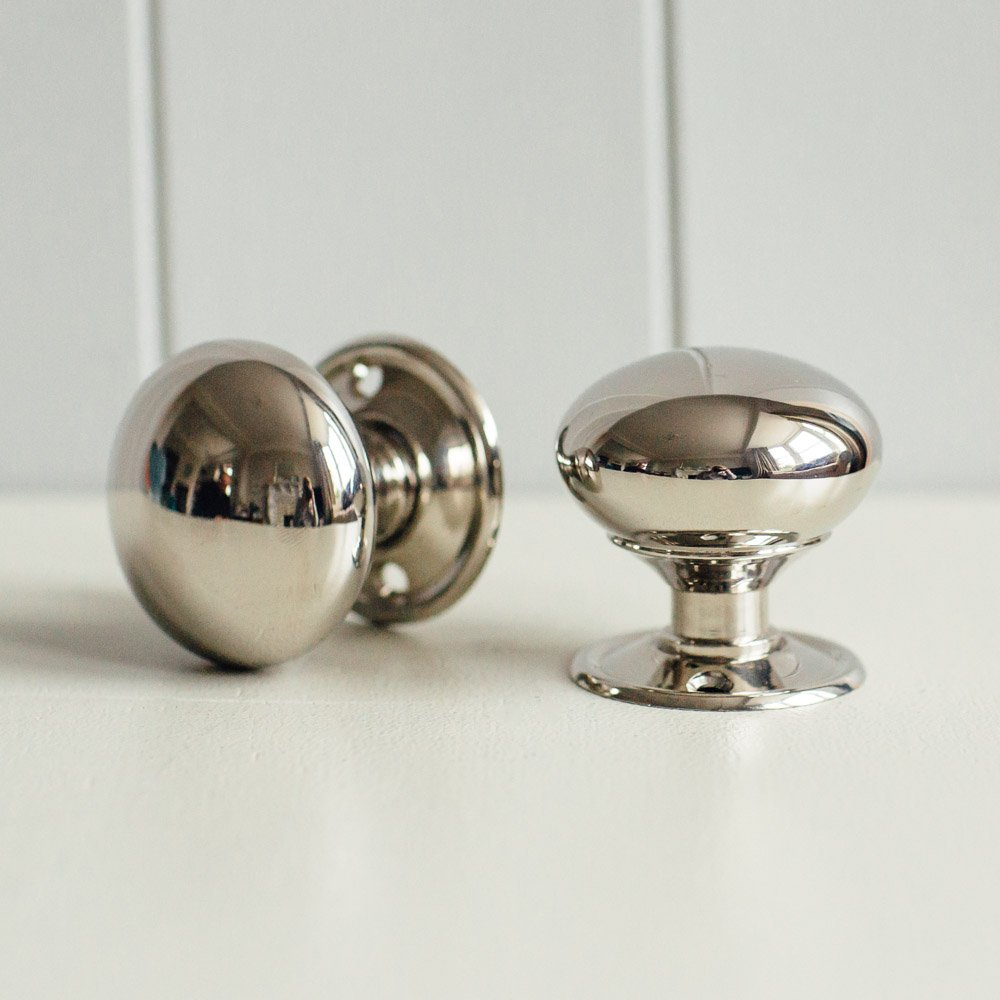 Cottage Door Knobs Small (Pair) - Nickel