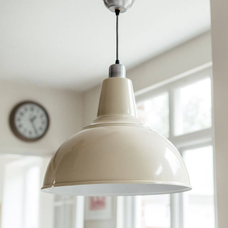 Large Kitchen Pendant Light in Cream - Grace & Glory Home