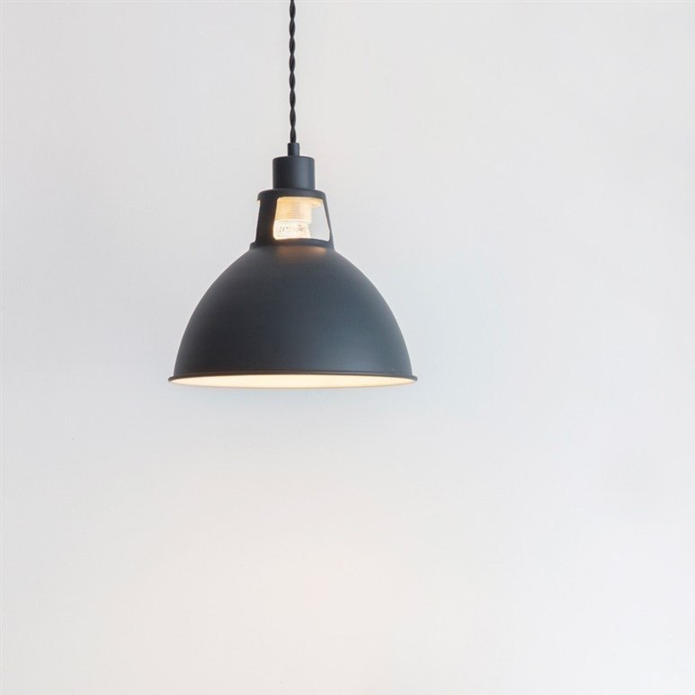 Digbeth Steel Pendant Light - Carbon