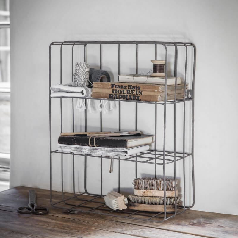Farringdon Wirework Crate - Charcoal