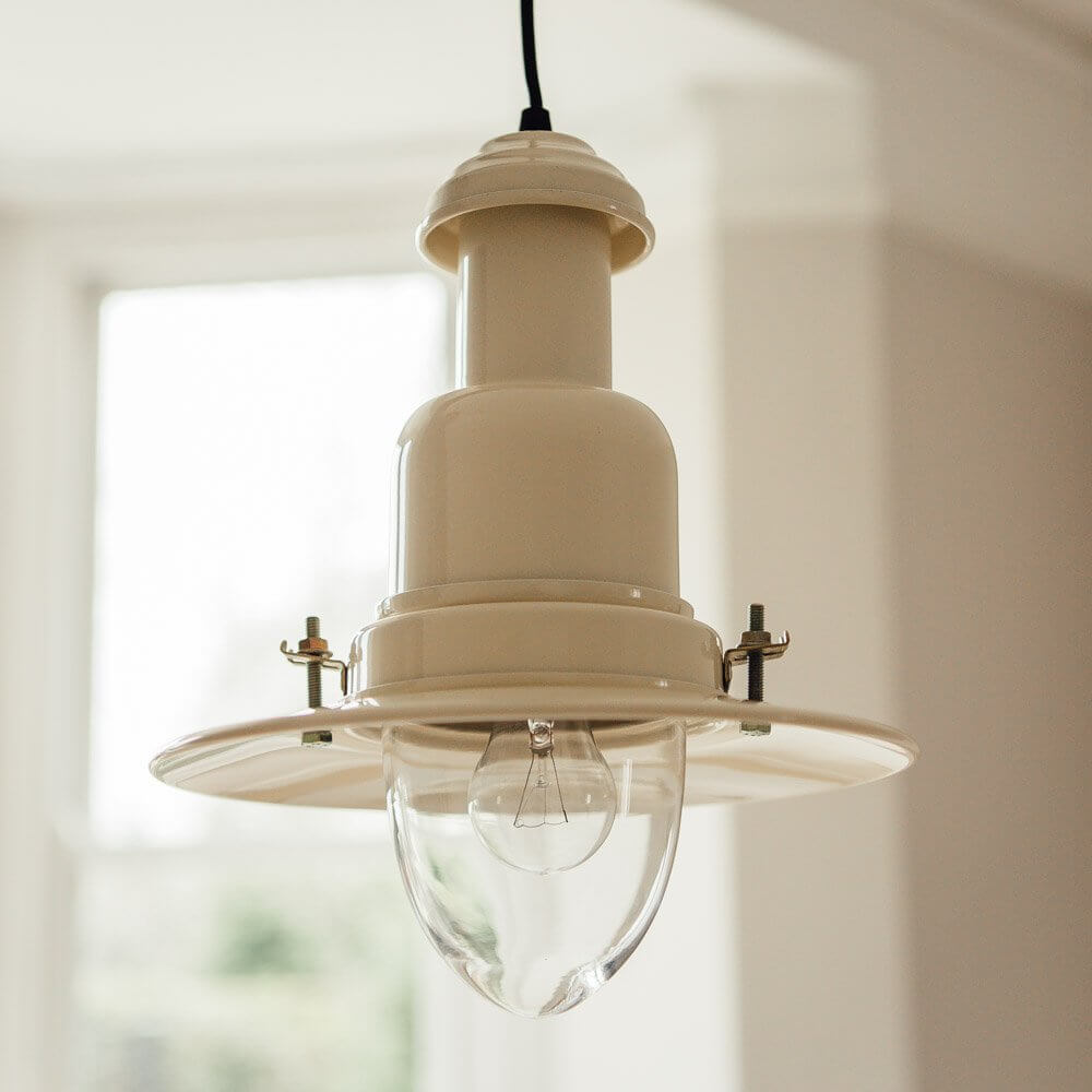 Fishing Pendant Light - Cream