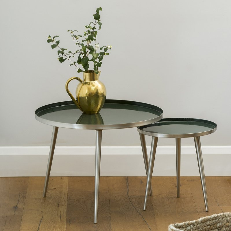 Jelva Side Table - Forest Green save 10%