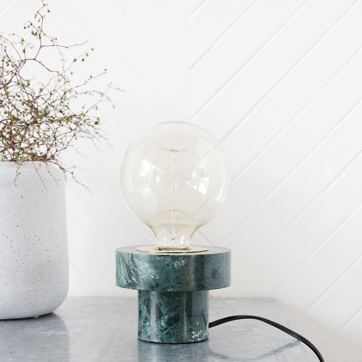 Green Marble Table Lamp