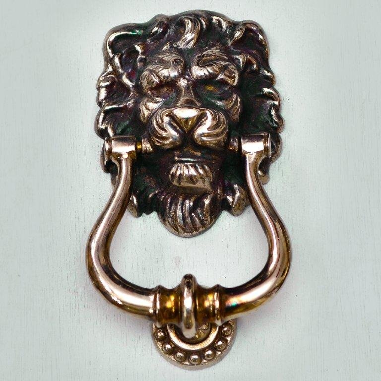 Lions Head Door Knocker - Aged Nickel