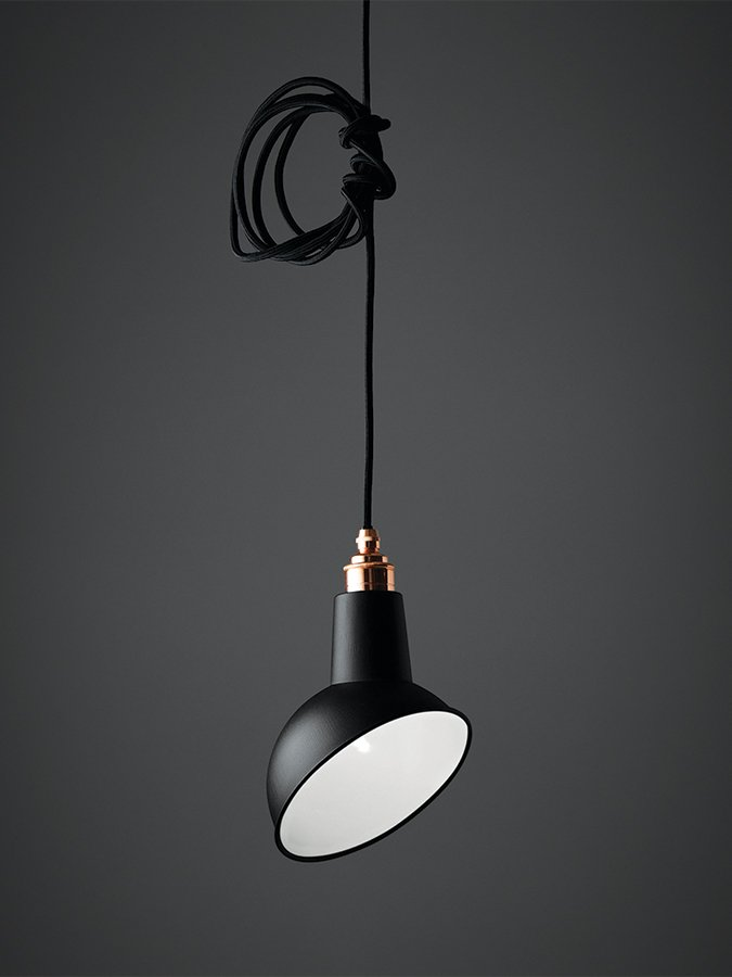 Mini Angled Cloche Pendant Light