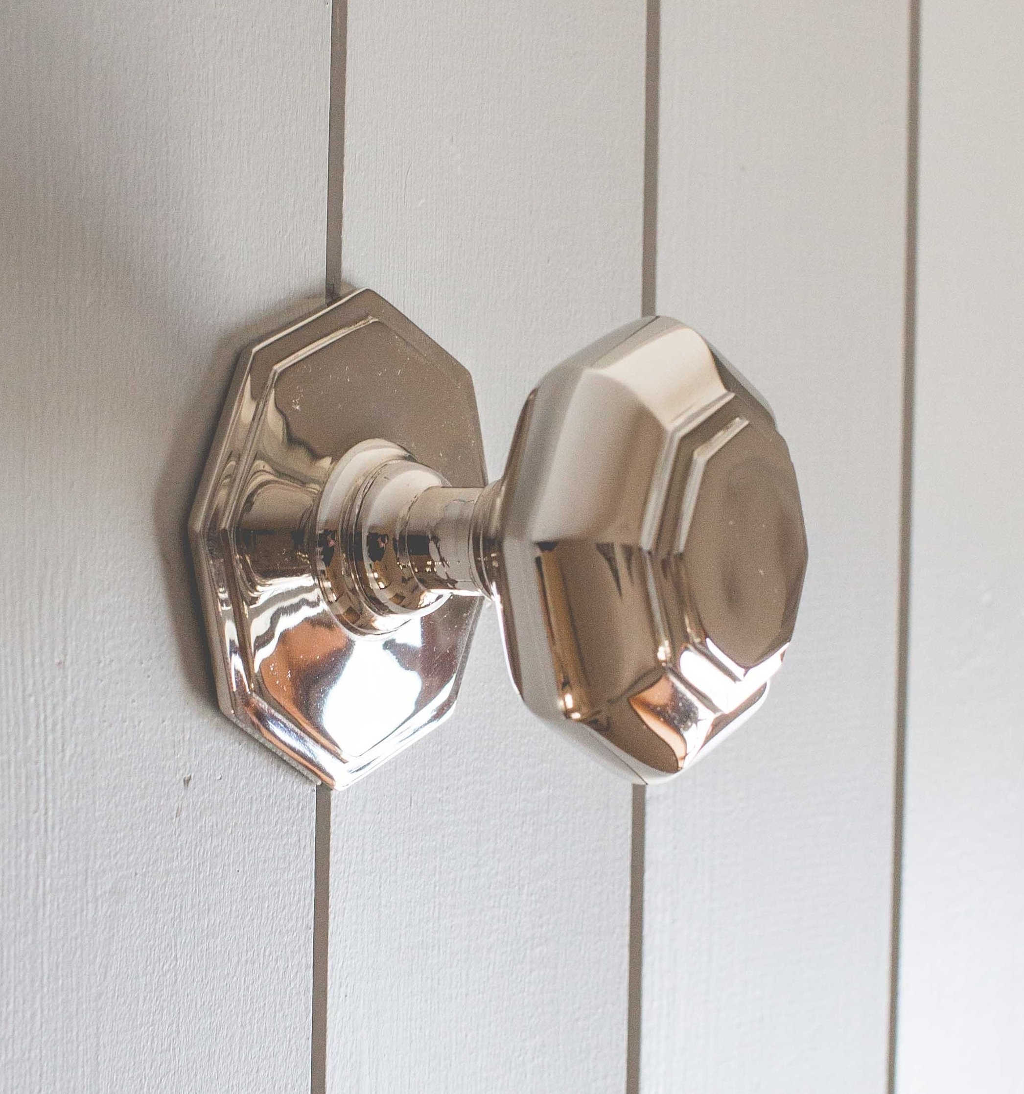 Octagonal Door Pull - Nickel
