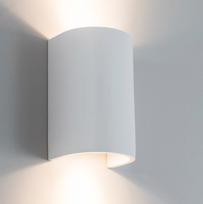 Plaster Double Wall Light