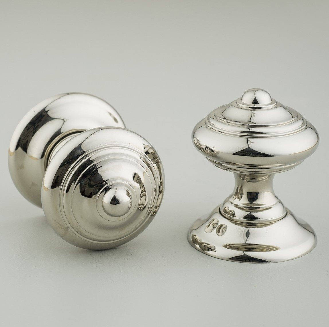 Regency-Style  Concealed Screw Door Knobs (Pair) - Nickel