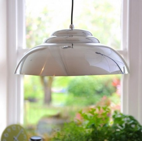 Retro Pendant Light - Aluminium
