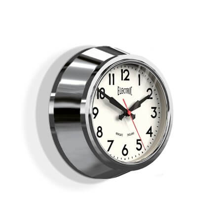 Newgate Small 50's Electric Clock - Chrome