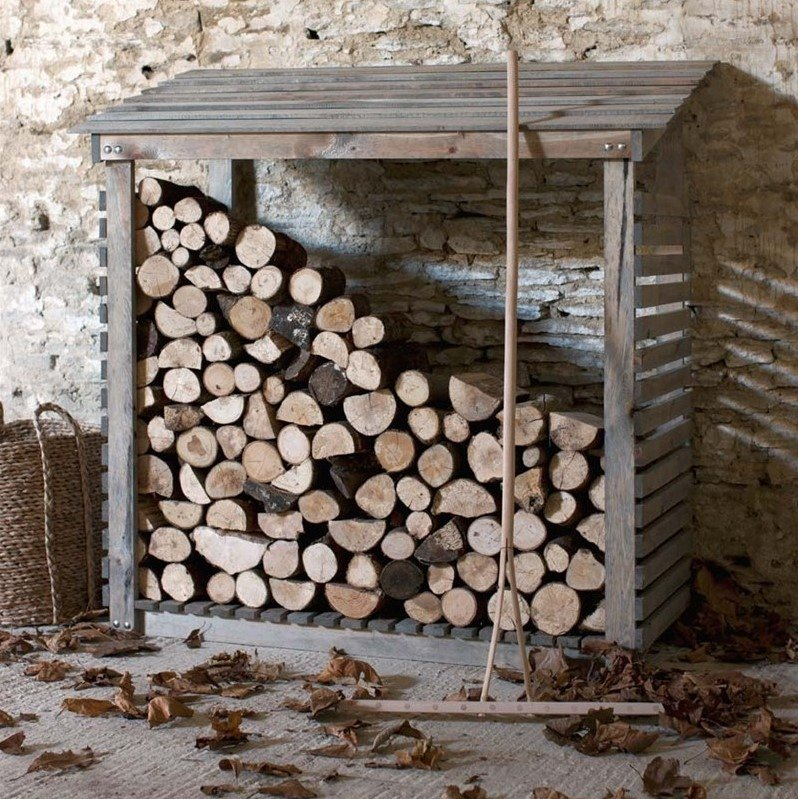 Spruce Log Store - Wide