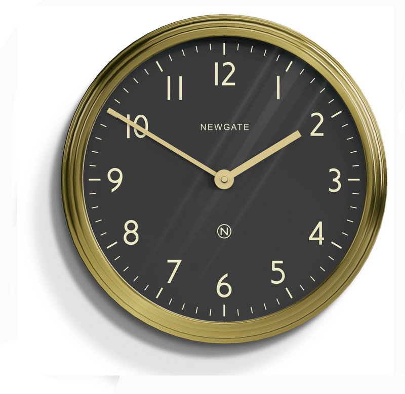 The Spy Clock by Newgate - Brass save 25%