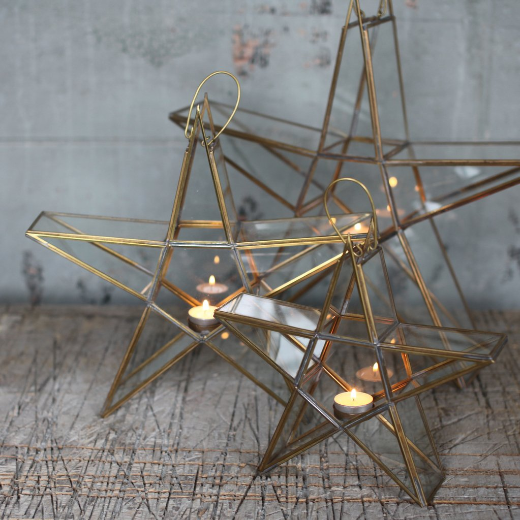 Star Tealight Holder - Brass