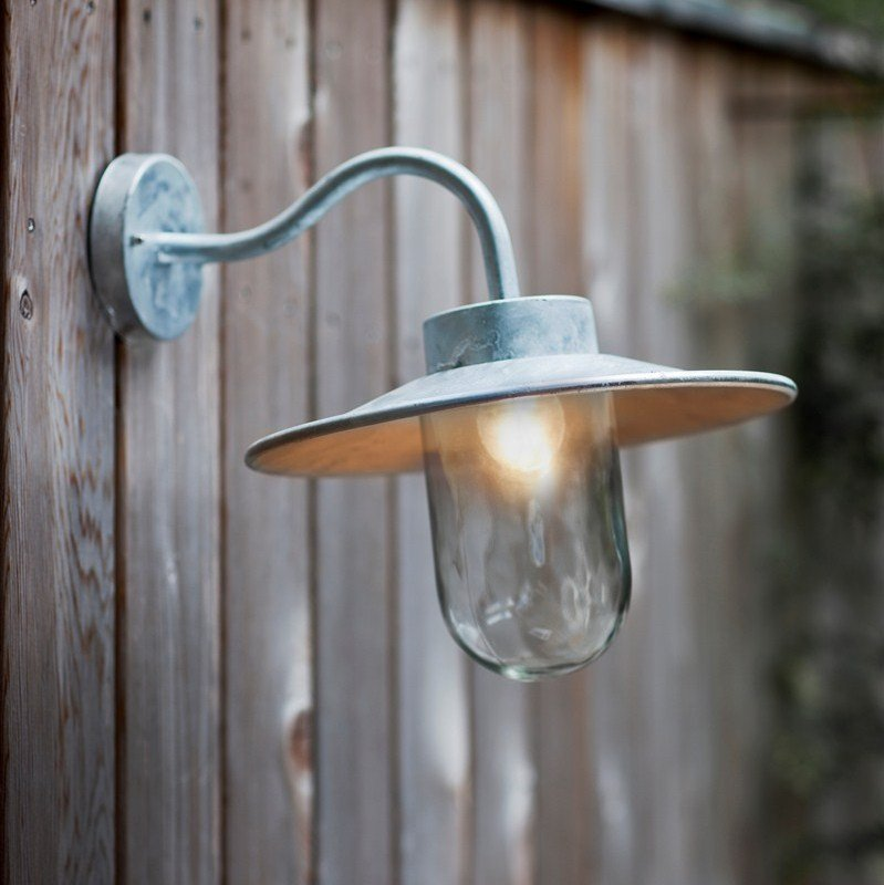 St Ives Galvanised Swan Neck  Light