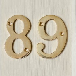 House Number '9' - Brass