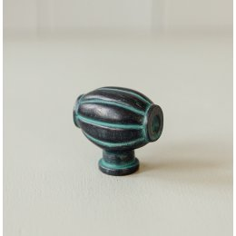 Barrel Cabinet Knob from Turnstyle (Box of 6) - Verdi Gris