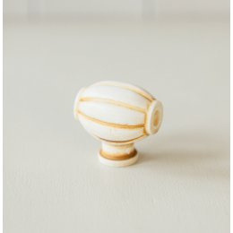 Barrel Cabinet Knob from Turnstyle (Box of 6) - Ochre SAVE 50%