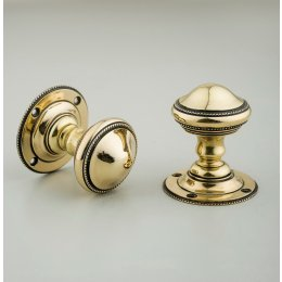 Beaded Edge Regency Door Knobs (Pair) - Brass