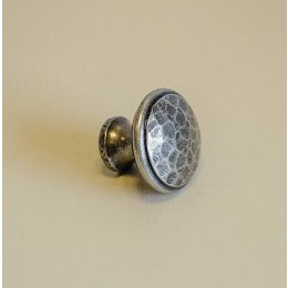 Beaten Cupboard Knob - Pewter