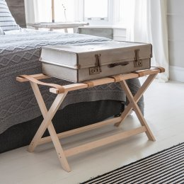 Folding Luggage Bench - Beech