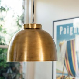 Brass Bowl Pendant Light - save 15%
