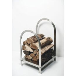 Log Holder - Brushed Steel SAVE 15%