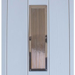 Chester Reeded Fingerplate- Polished Nickel