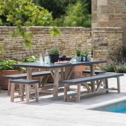Indoor / Outdoor Table & Bench Set - Large